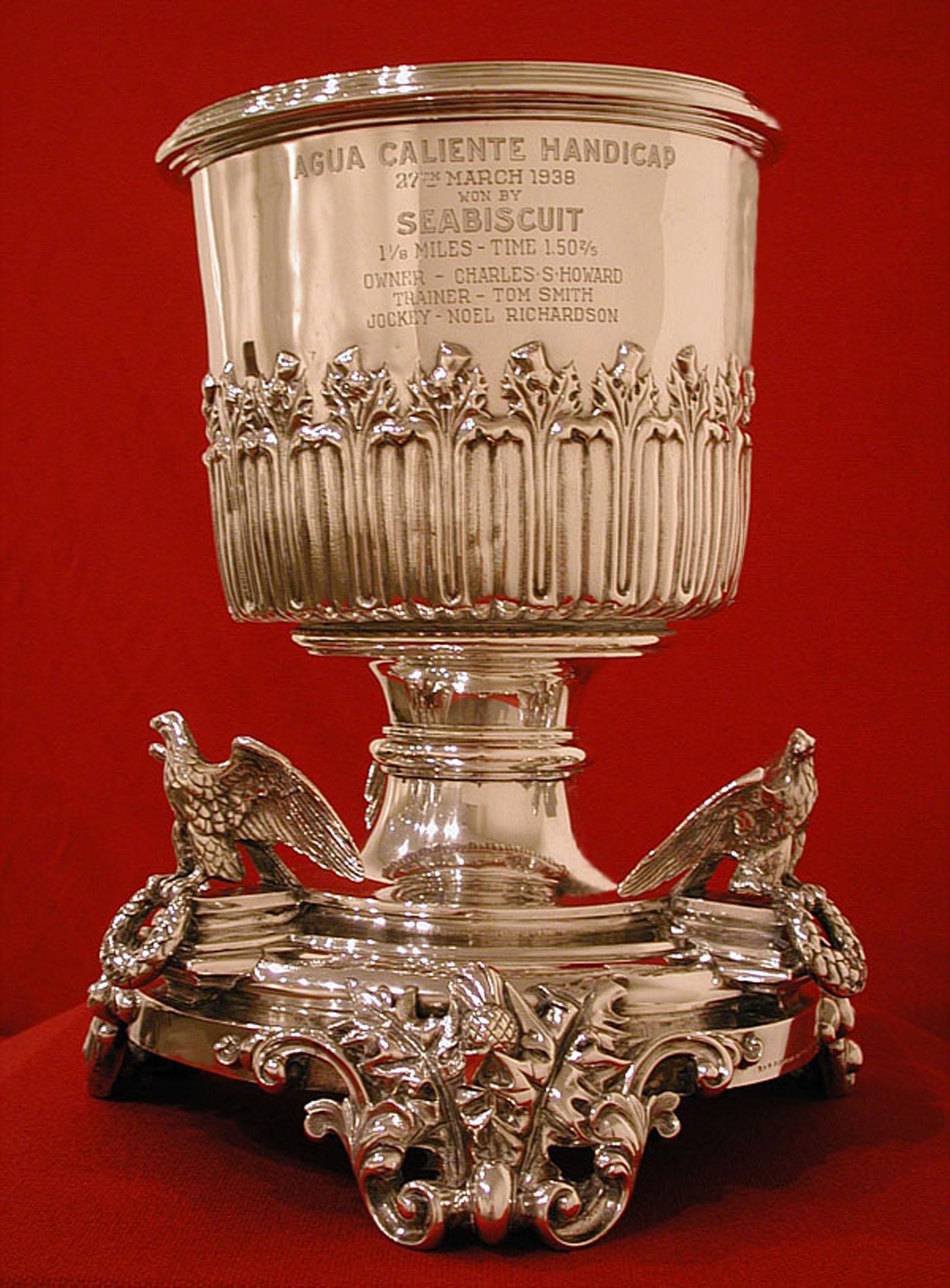 2002.8: Agua Caliente Handicap, 1938, won by Seabiscuit, Gift: Lt. Col. Mike Howard