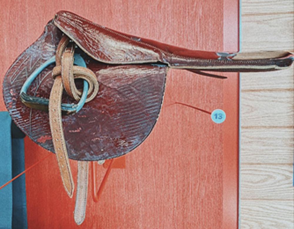 2010.12.1: Saddle belonging to Don Pierce, Gift: Don Pierce