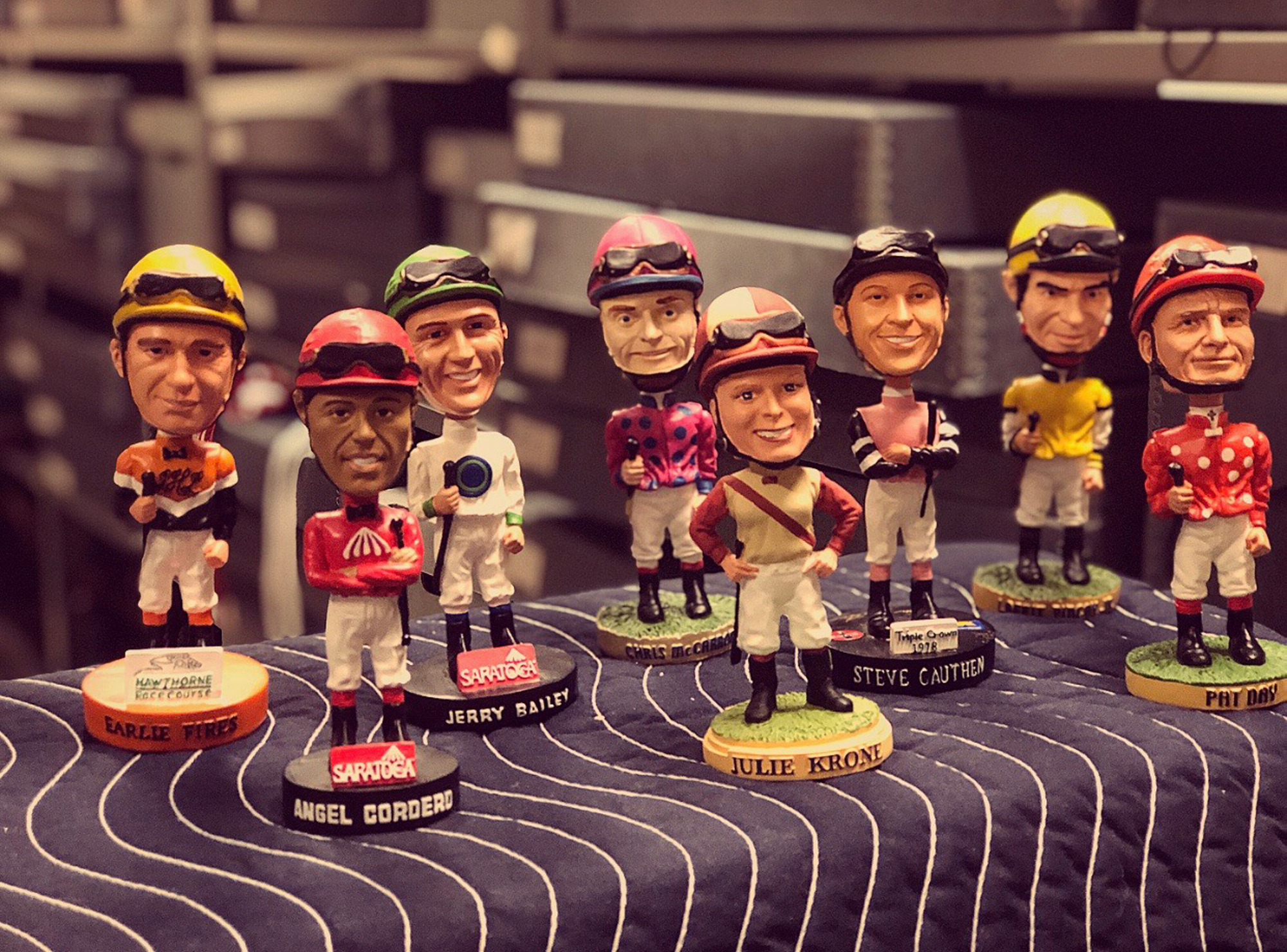 Selection of Jockey Bobbleheads