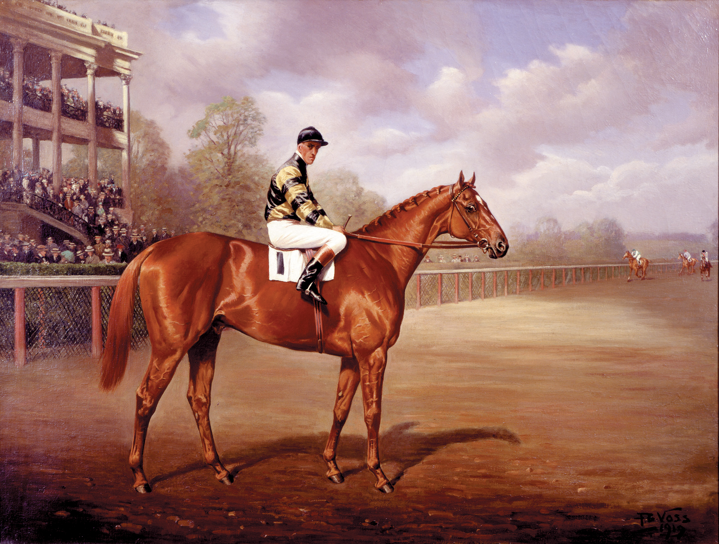 2004.65: Man o' War as a Two-year-old by Franklin Brooke Voss (1880-1953), Oil on canvas, 1919, Museum Purchase
