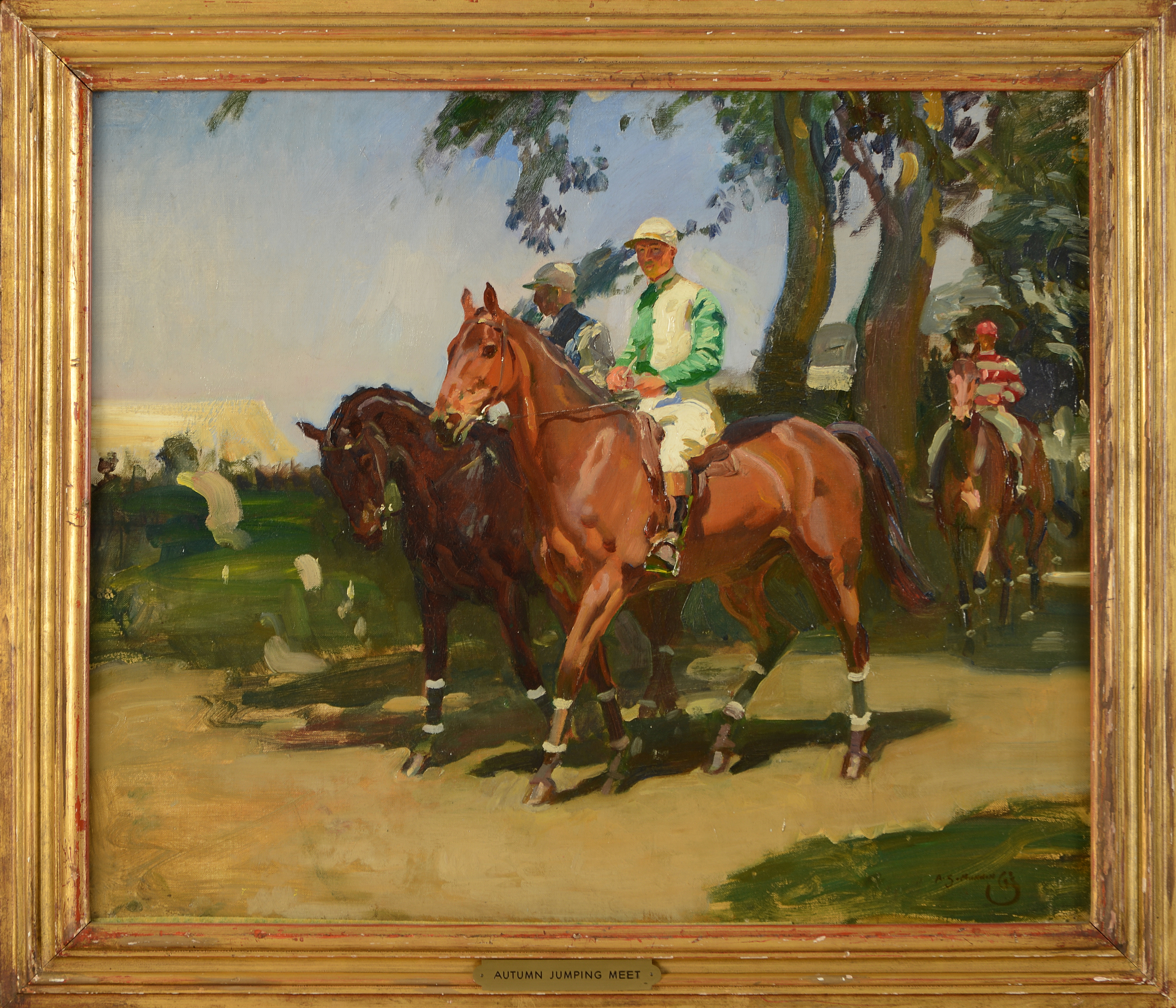 1964.4.1: Autumn Jumping Meet by Sir Alfred J. Munnings (1878-1959), Oil on canvas, Gift: Mrs. Francis P. Garvan