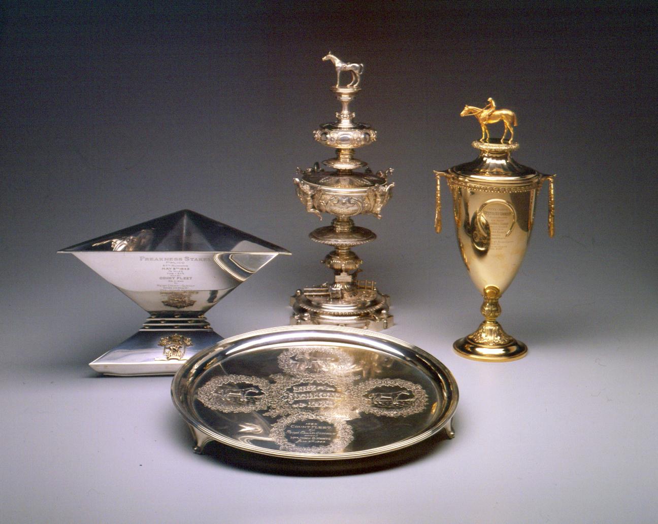 1971.3.1-.2, 1975.3.1-.2: The Triple Crown Trophies of Count Fleet