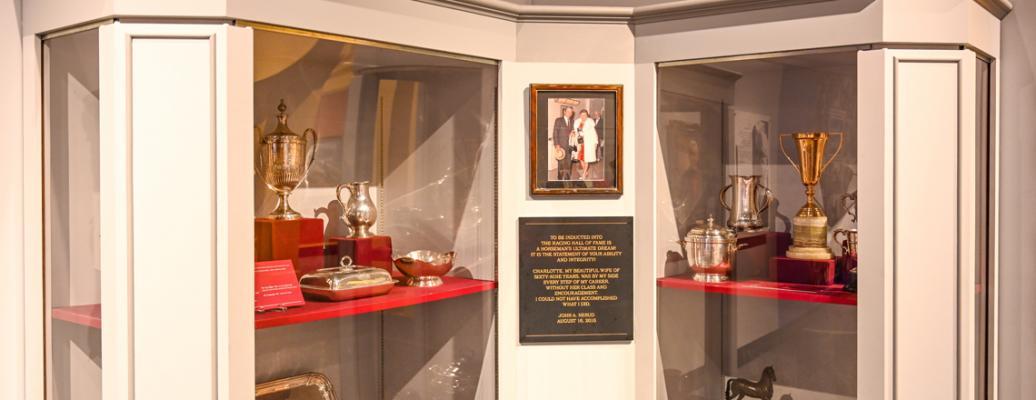 John Nerud Collection case, McBean Gallery (Bob Mayberger)
