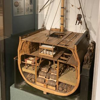 Ship model, Colonial Gallery (Stephanie Luce)