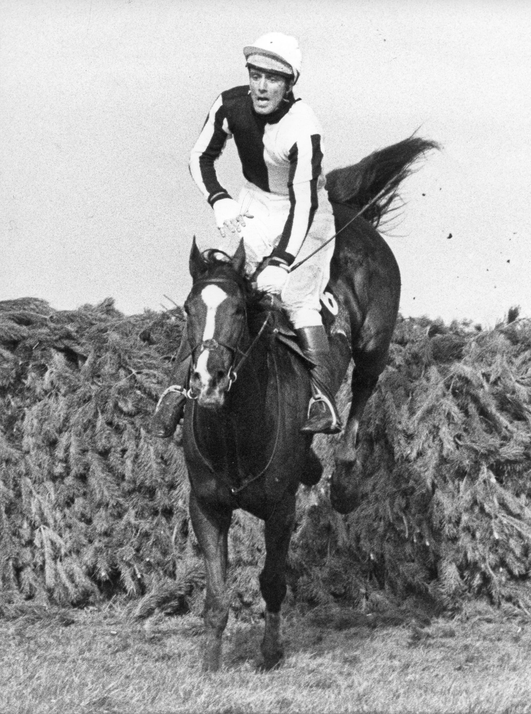 Ben Nevis II with Charles Fenwick, Jr., up at the 1980 English Grand National (Douglas Lees)