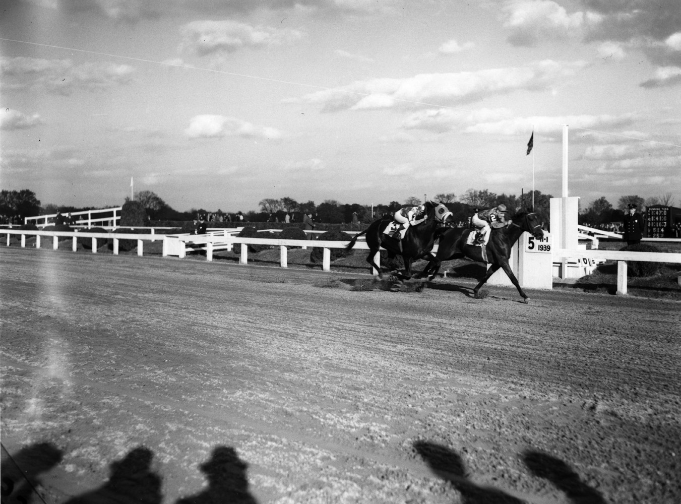 Challedon (Eddie Arcaro up) winning the 1939 Pimlico Special (Keeneland Library Morgan Collection/Museum Collection)