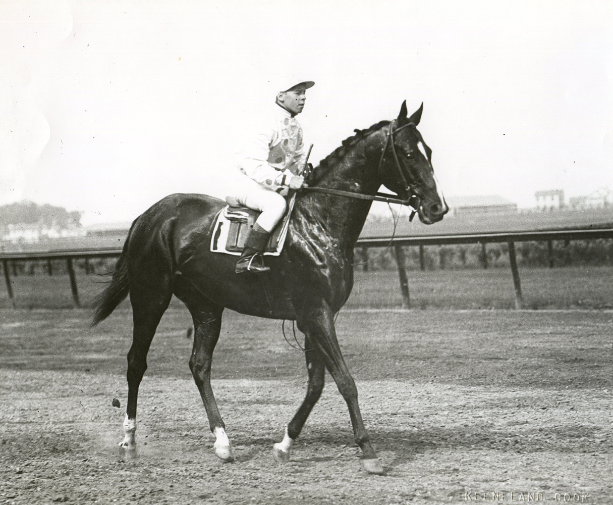 Colin with Joe Notter up (Keeneland Library Cook Collection/Museum Collection)
