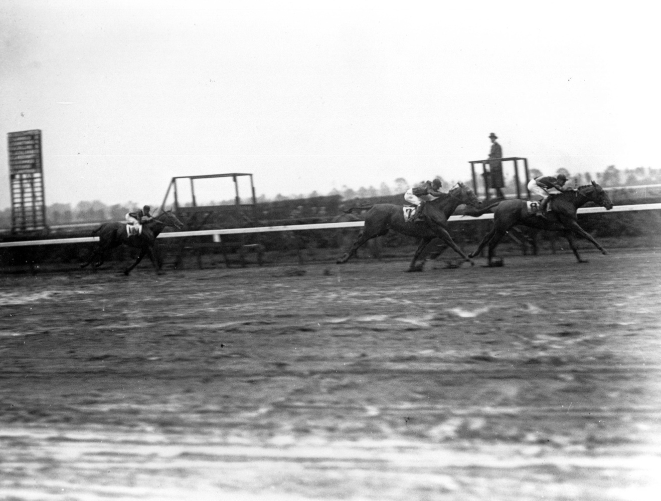 Crusader (Albert Johnson up) winning the 1926 Belmont Stakes at Belmont Park (Keeneland Library Cook Collection/Museum Collection)