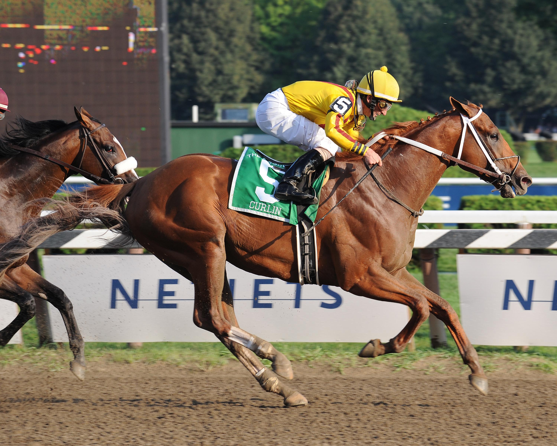 Curlin, Robby Albarado up, winning the 2008 Woodward at Saratoga Race (NYRA)
