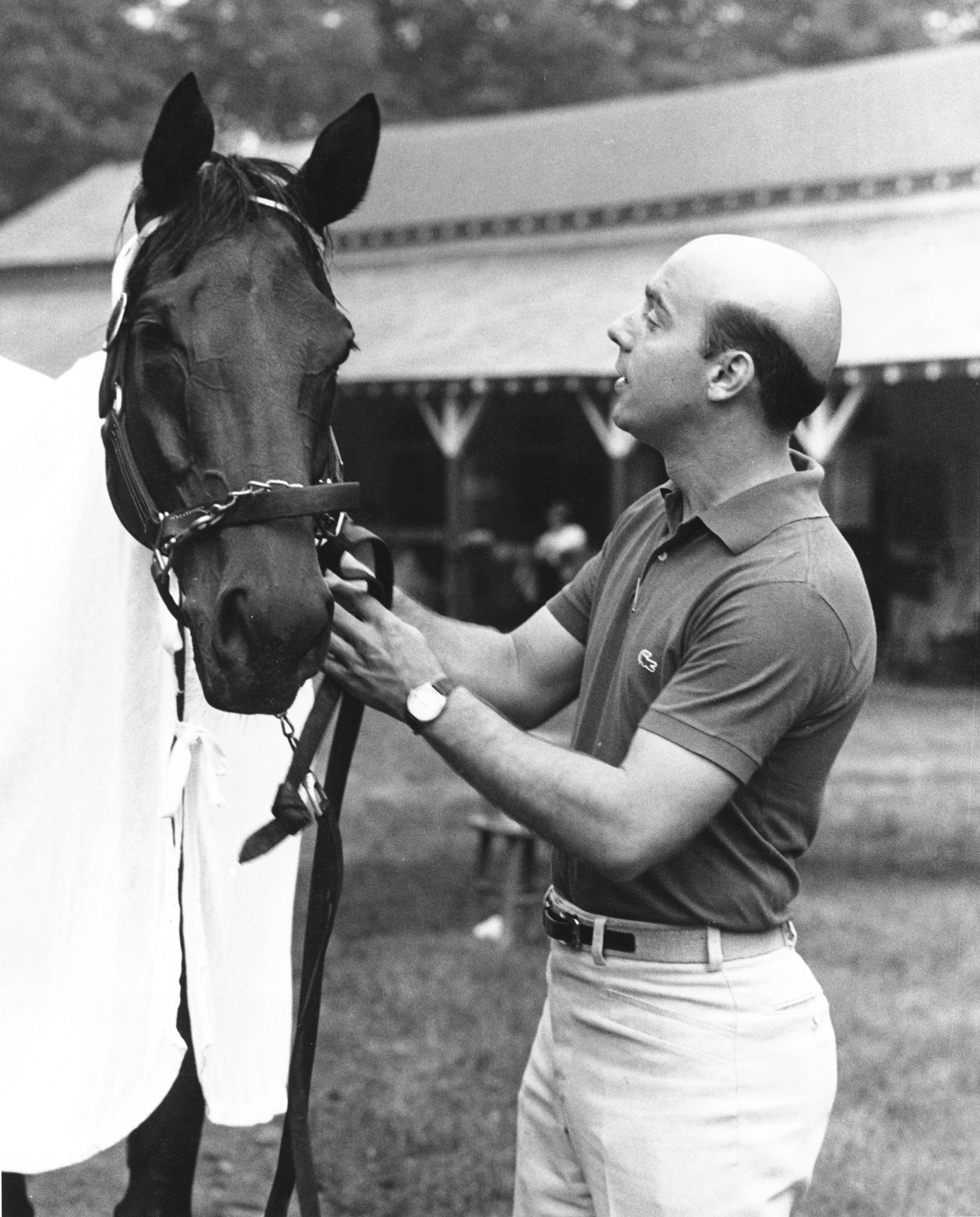 Davona Dale and trainer John Veitch (NYRA/Museum Collection)