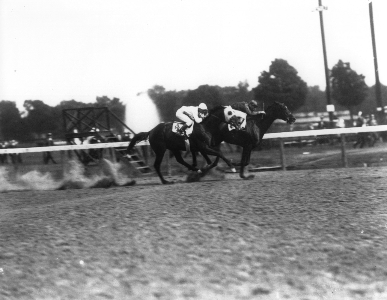 Exterminator (Albert Johnson up) winning the 1922 Saratoga Cup (Keeneland Library Cook Collection/Museum Collection)