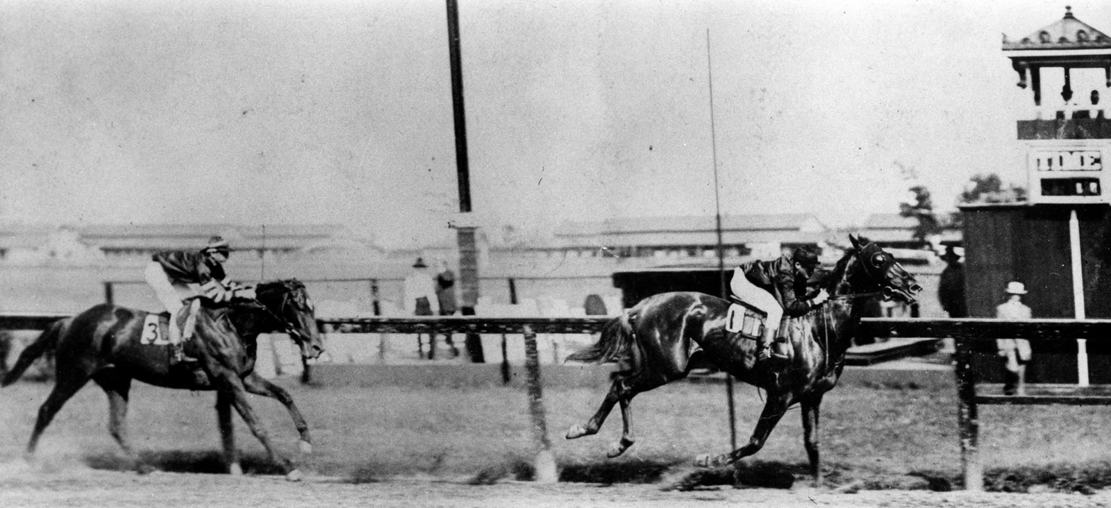 Fair Play racing to the finish in an unknown race (Museum Collection)