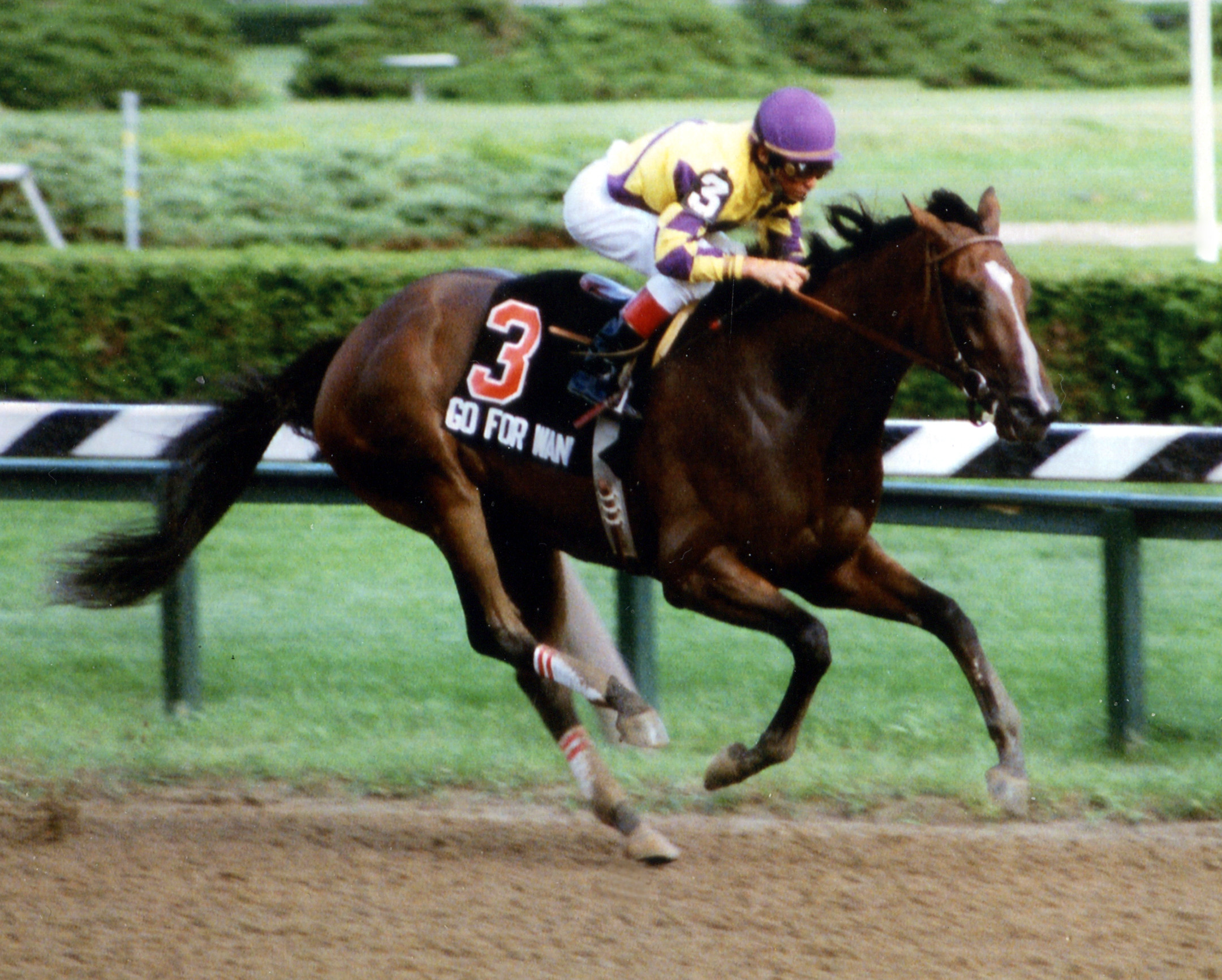 Go for Wand (Randy Romero up) winning the 1990 Alabama at Saratoga (Mike Pender/Museum Collection)