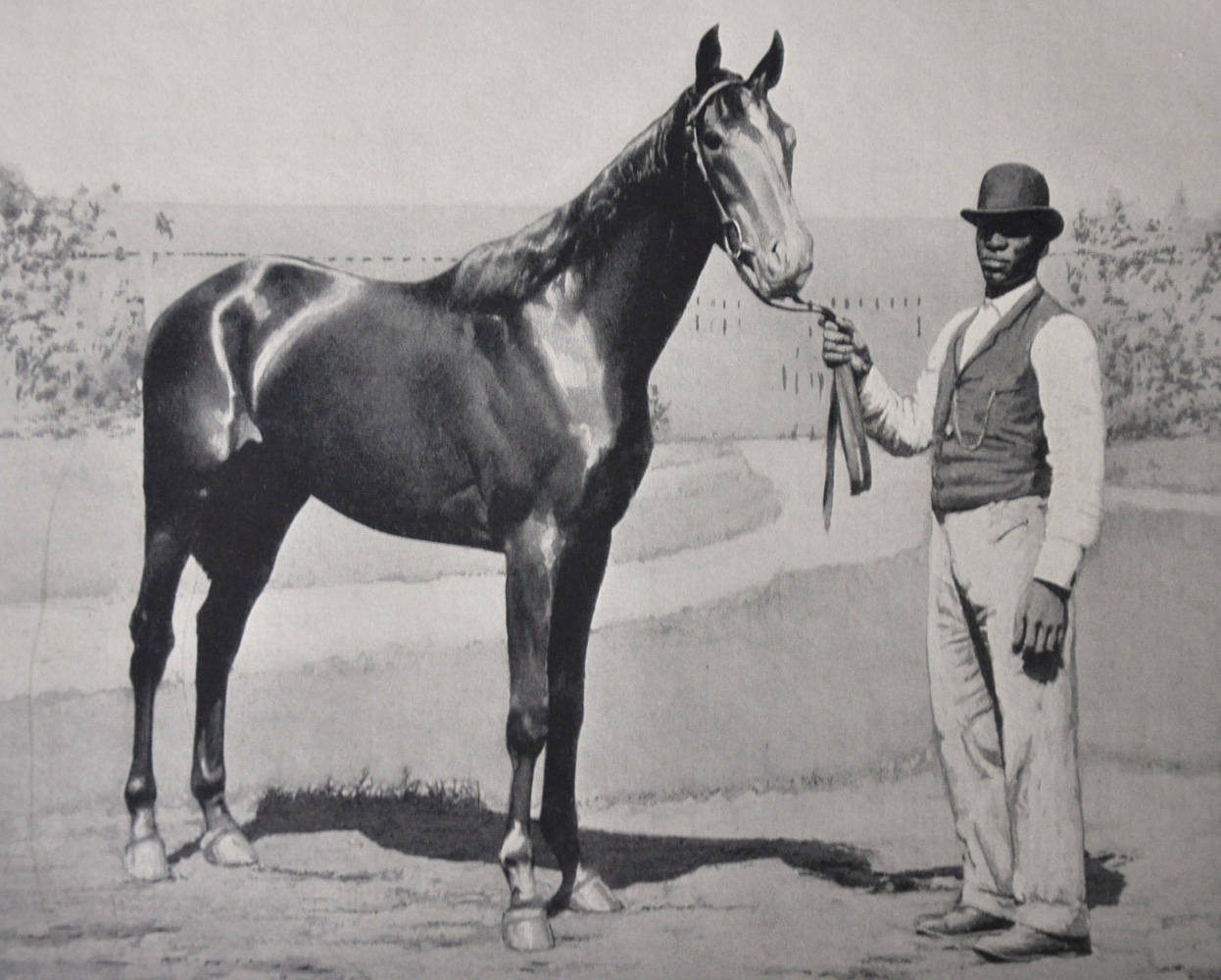 """Illustration of Henry of Navarre from """"Racing in America"""" (Museum Collection)"""