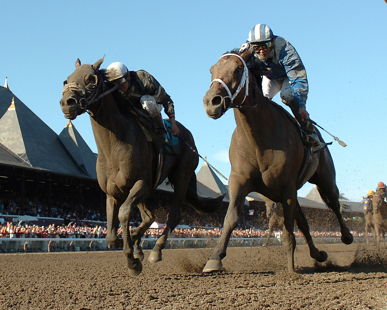 Invasor (Fernando Jara up) racing to victory in the 2006 Whitney (NYRA)