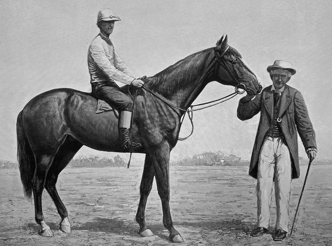 """Illustration of Longfellow from """"Racing in America, 1866-1921 (Museum Collection)"""