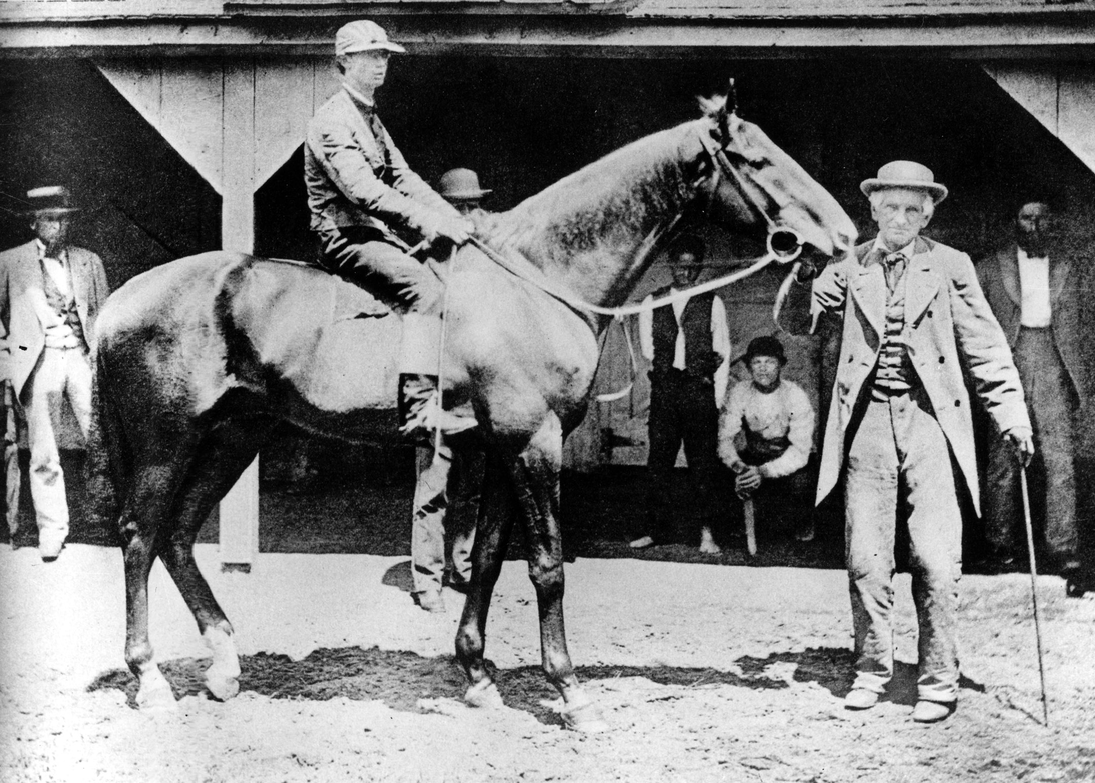 Longfellow with owner, breeder and trainer John Harper (Keeneland Library McClure Collection/Museum Collection)