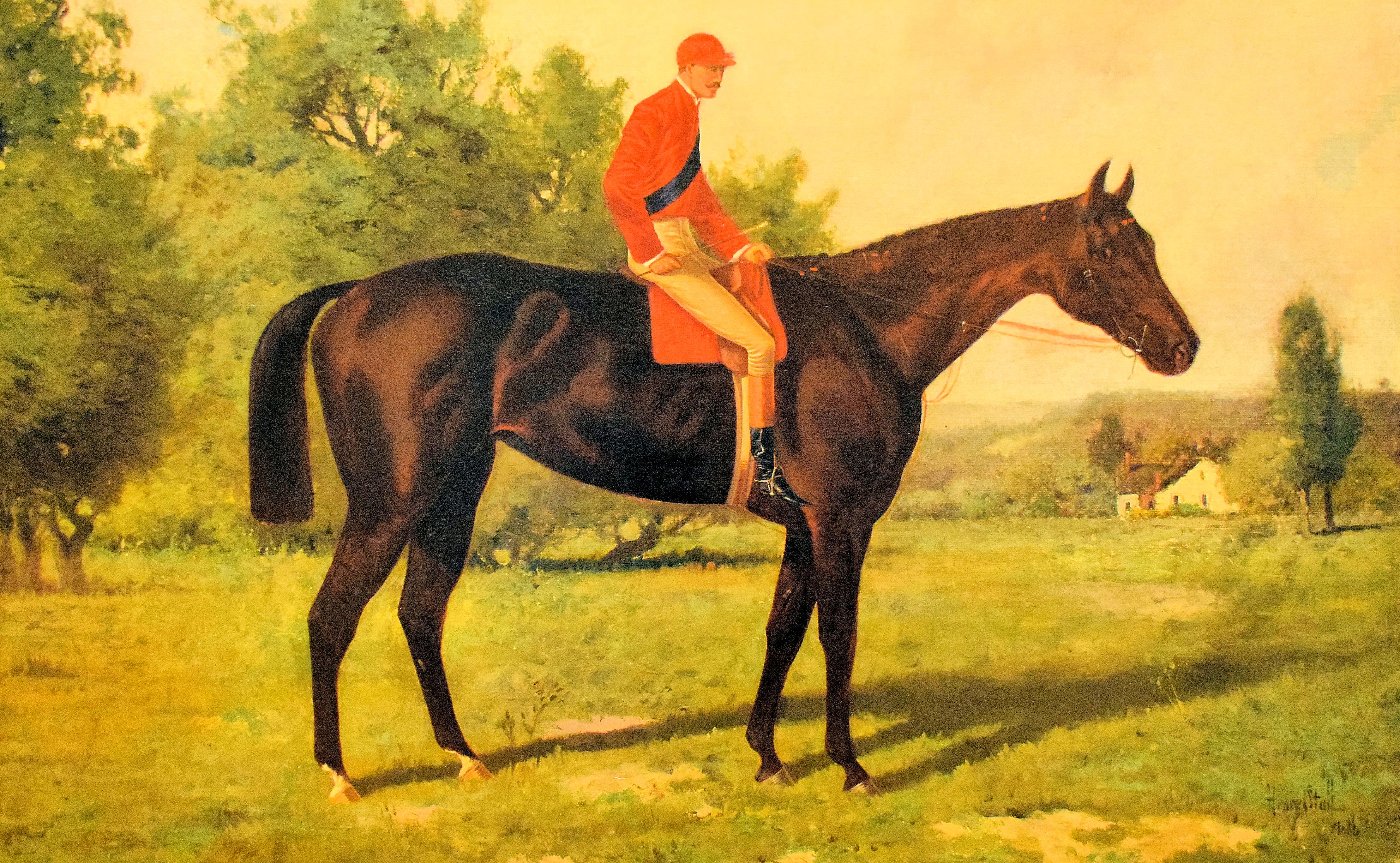 Painting of Miss Woodford (James McLaughlin up) by Henry Stull, 1886 (Museum Collection)