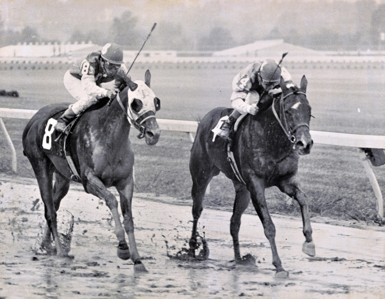 My Juliet (Don Brumfield up) winning the 1975 Cotillion at Keystone (Keeneland Library Thoroughbred Times Collection)