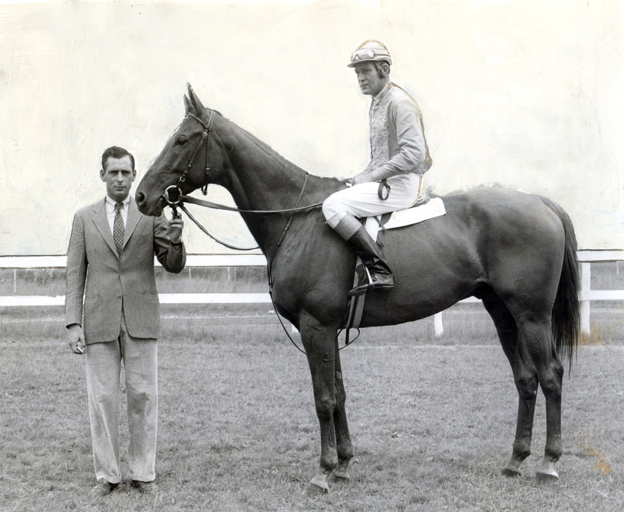 Neji with trainer D. Michael Smithwick and jockey Alfred P. Smithwick (Bert and Richard Morgan/Museum Collection)