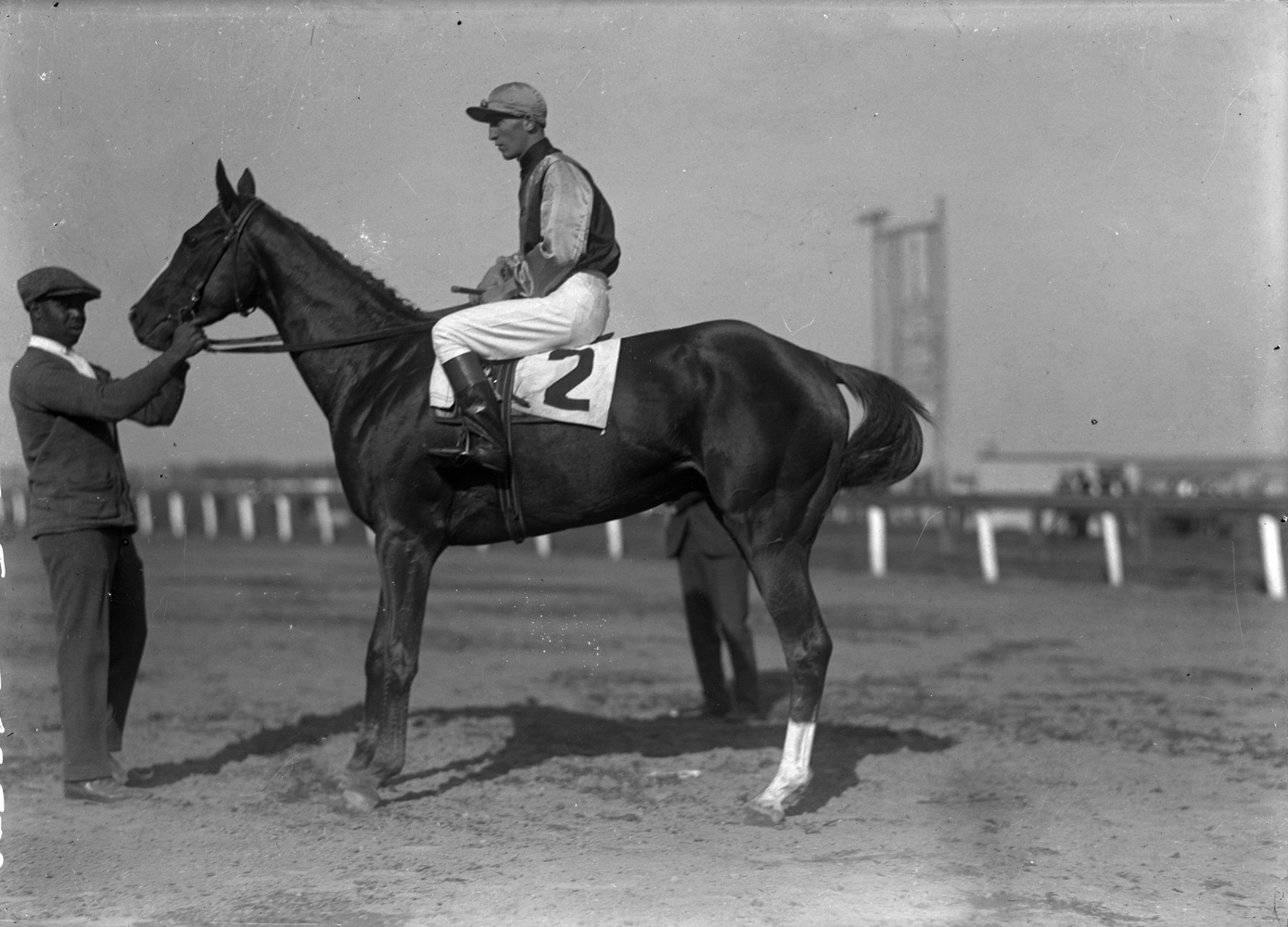 Sarazen with G. Babin up in 1924 (Keeneland Library Cook Collection)