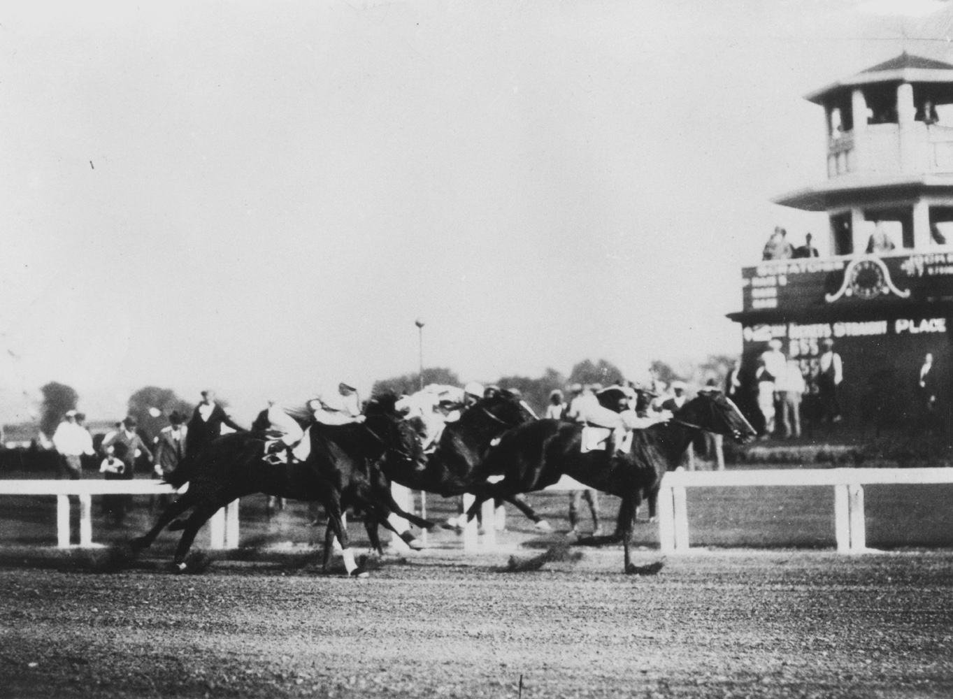 Sarazen (G. Babin up) defeating Epinard and Mad Play in the 1924 International Special at Latonia (Keeneland Library Cook Collection/Museum Collection)