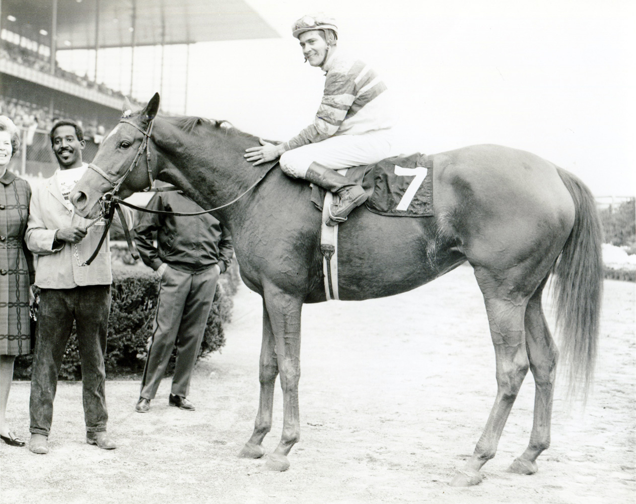 Shuvee in the winner's circle (Museum Collection)
