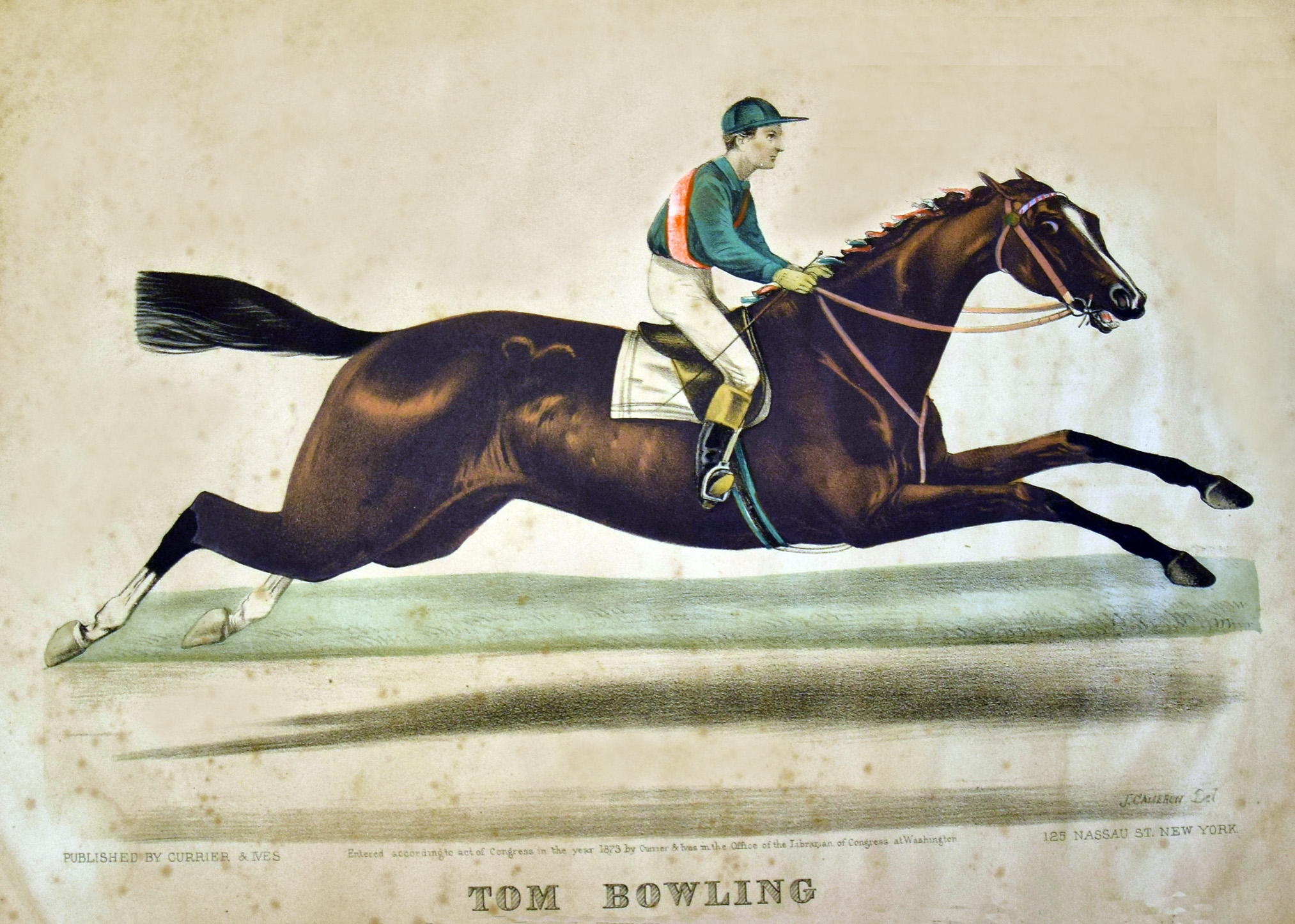 1873 Currier & Ives print of Tom Bowling (Museum Collection)