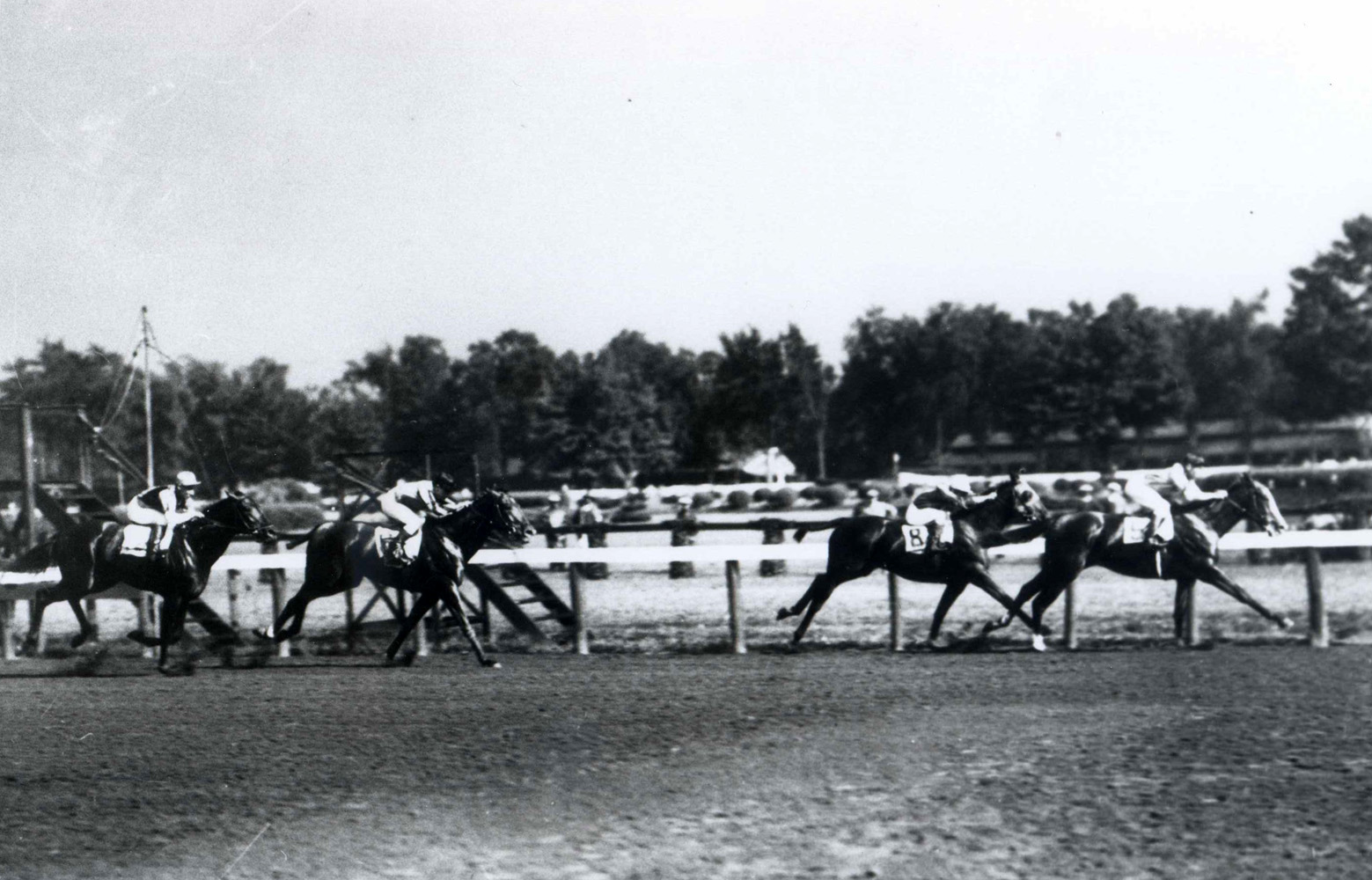 Top Flight (Raymond Workman up) winning the 1931 Saratoga Special (Keeneland Library Cook Collection/Museum Collection)