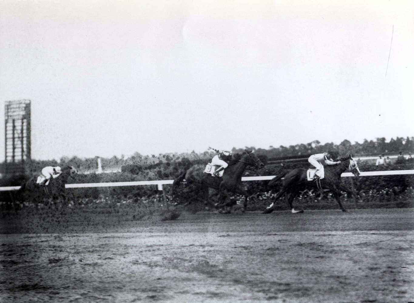 Top Flight (Raymond Workman up) winning the 1932 Coaching Club American Oaks at Belmont (Keeneland Library Cook Collection/Museum Collection)