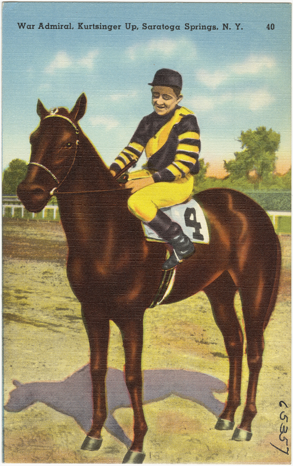 War Admiral postcard (Museum Collection)