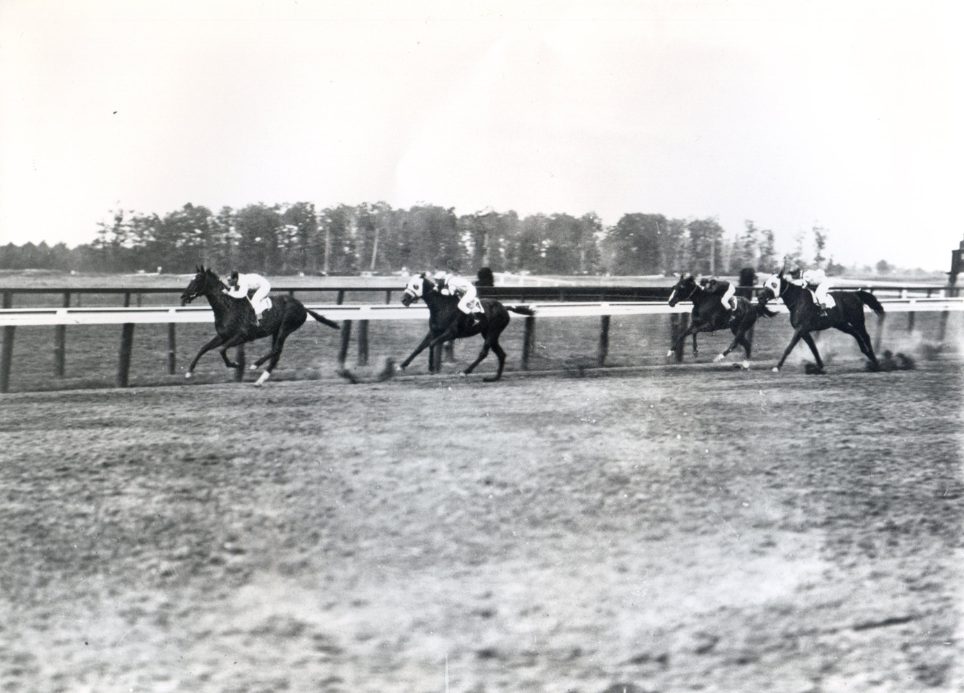 Whisk Broom II (Joe Notter up) winning the 1913 Metropolitan Handicap at Belmont, his first American race (Keeneland Library Cook Collection/Museum Collection)