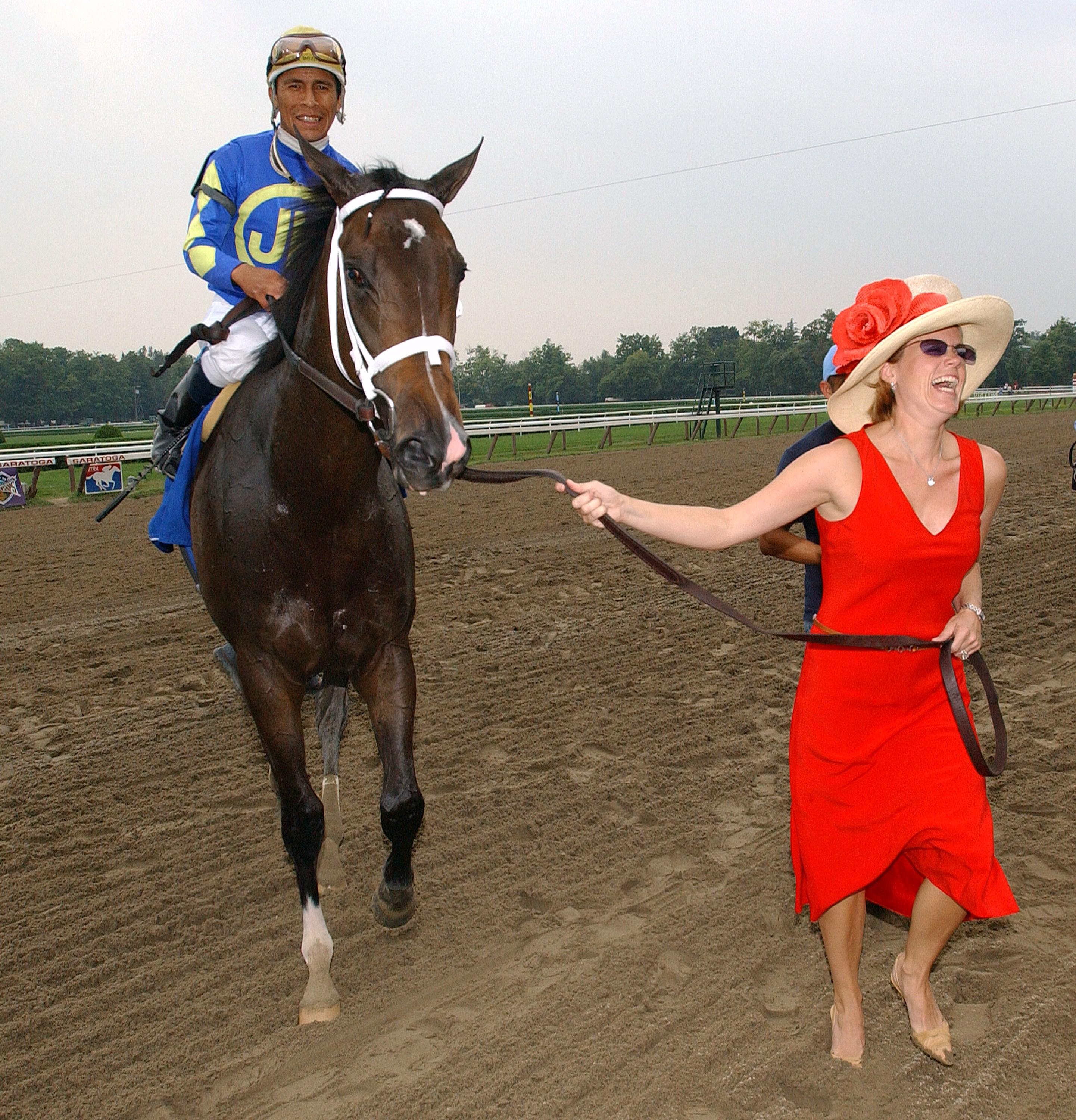 Ashado after winning the 2003 Spinaway at Saratoga Race Course (NYRA)