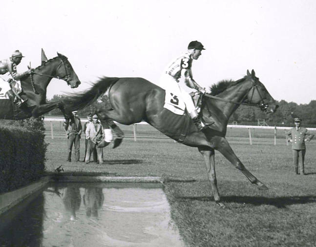 Bushranger (H. Little up)  at the Broad Hollow Handicap Steeplechase at Belmont Park (Keeneland Library Morgan Collection/Museum Collection)