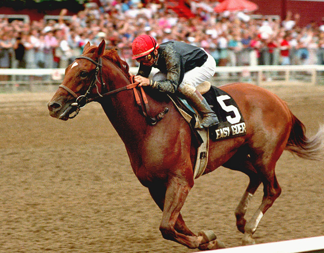 Easy Goer, Pat Day up, 1989 Travers Stakes (NYRA)