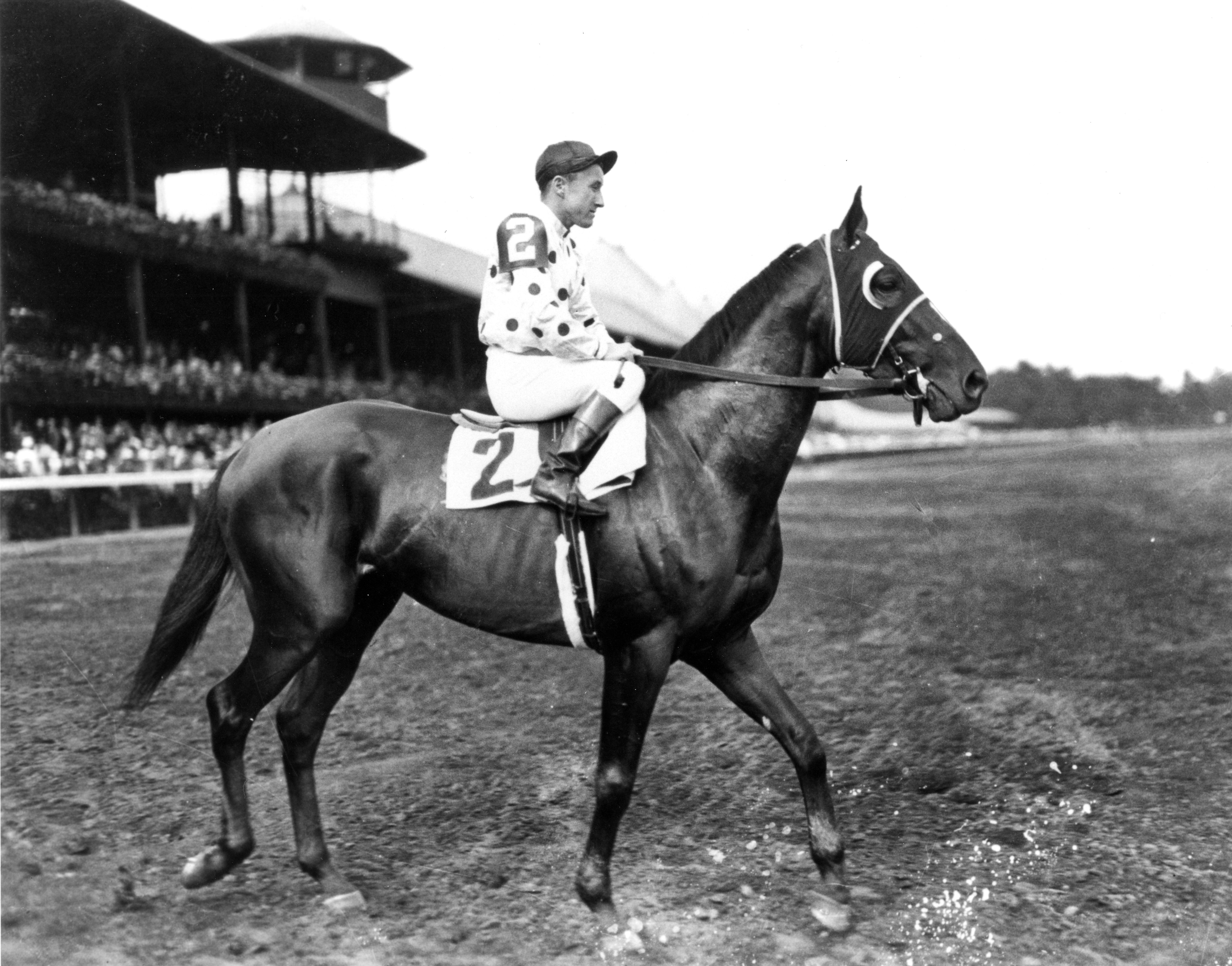 Granville with James Stout up at Saratoga, 1936 (Keeneland Library Cook Collection/Museum Collection)