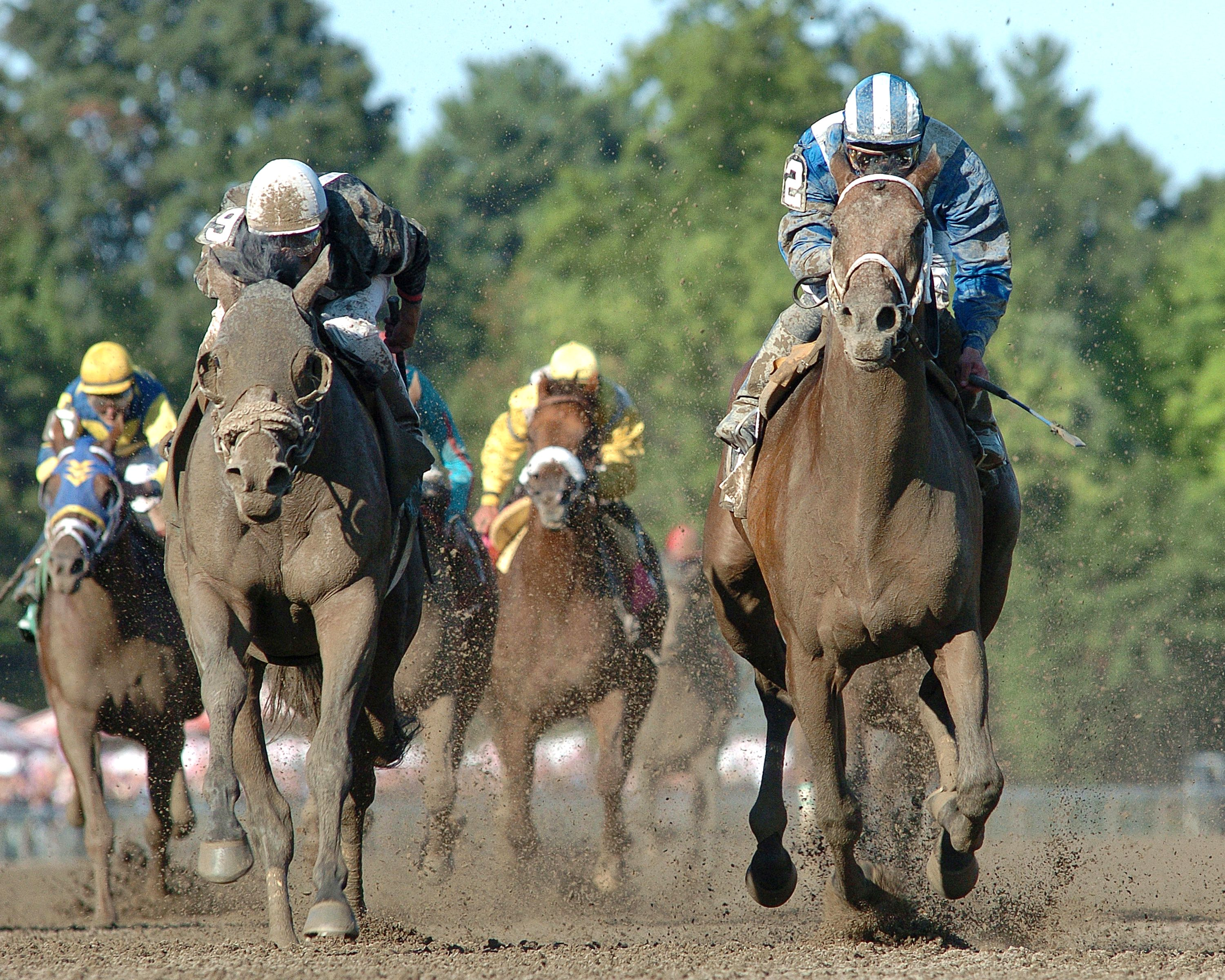 Invasor (Fernando Jara up) charging down the stretch at Saratoga (NYRA)