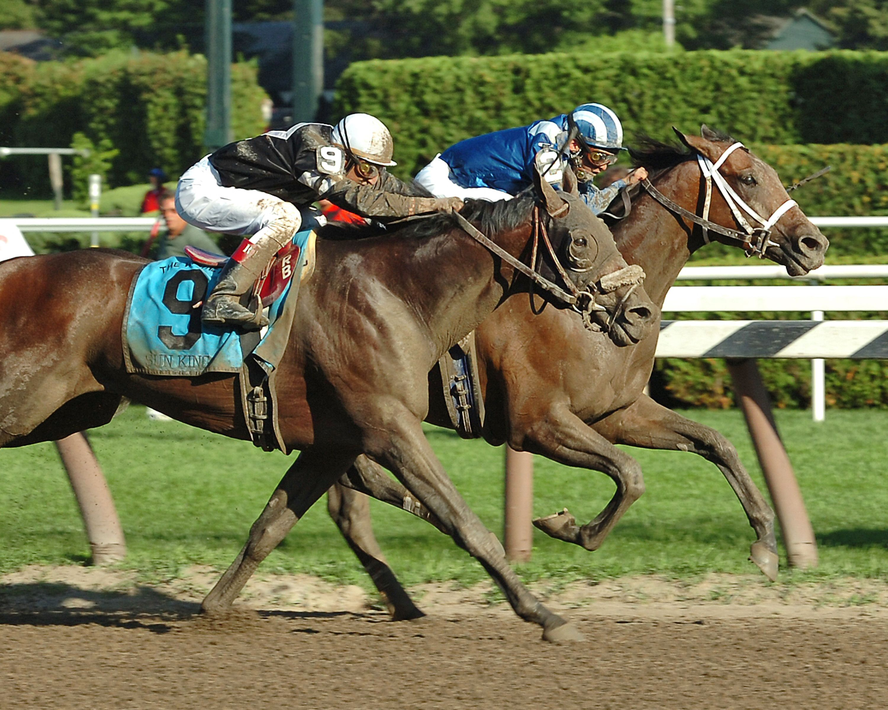 Invasor, on the rail with Fernando Jara up, defeating Sun KIng, 2006 Whitney Handicap (NYRA)