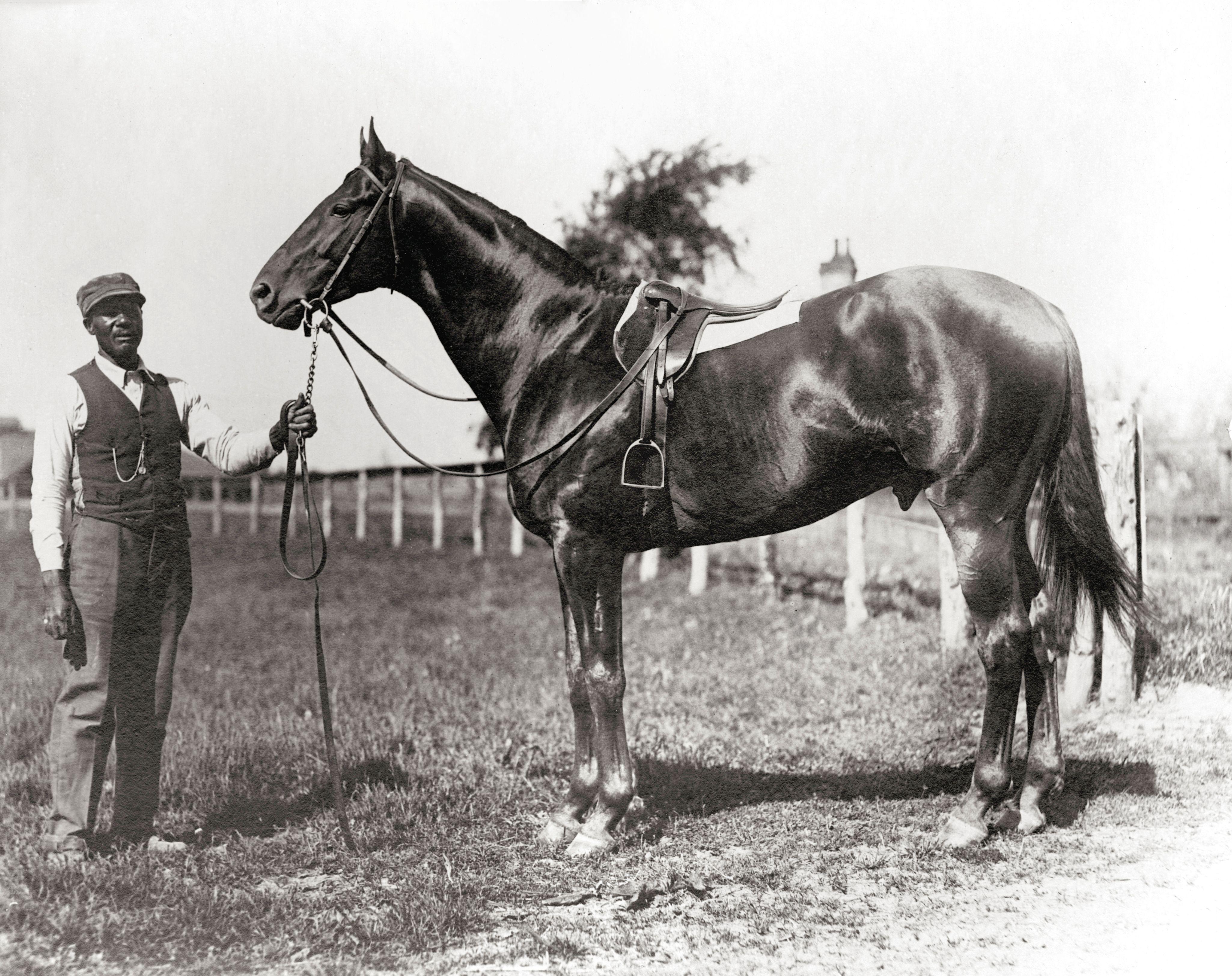 Man o' War and John Buckner (Keeneland Library Cook Collection)