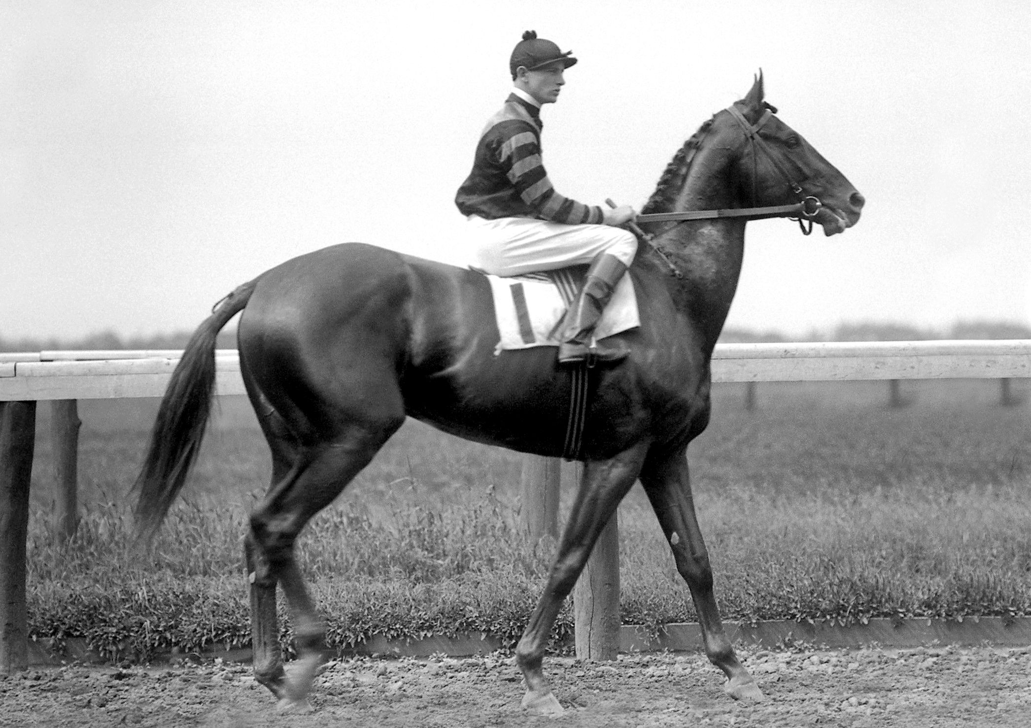 Man o' War with Clarence Kummer up (Keeneland Library Cook Collection)