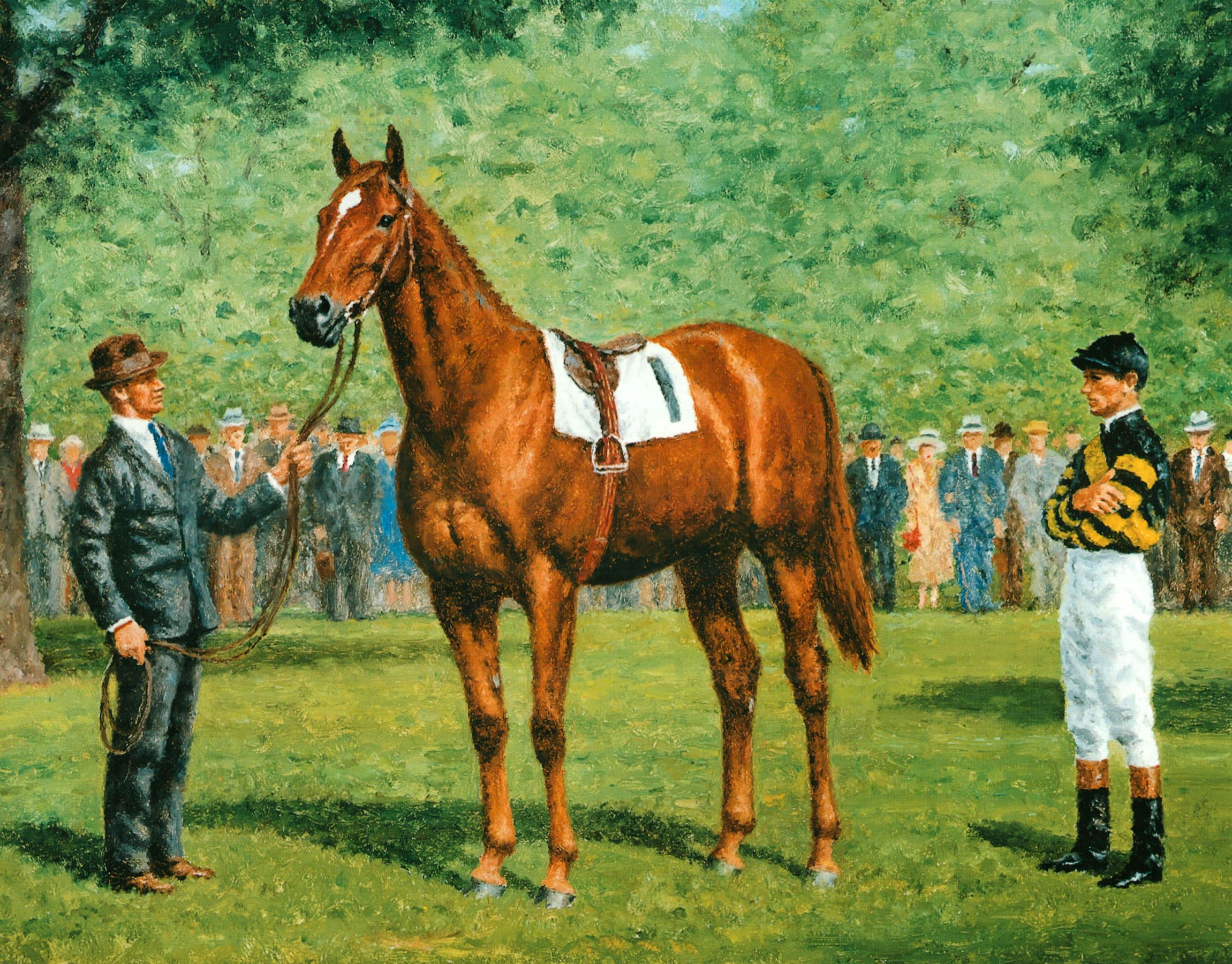 Painting of Man o' War by Richard Stone Reeves