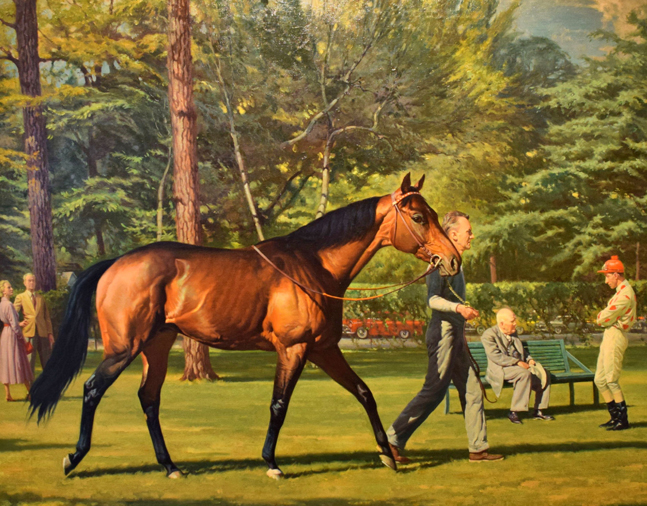 Painting of Nashua by William Smithson Broadhead, 1955 (Museum Collection)
