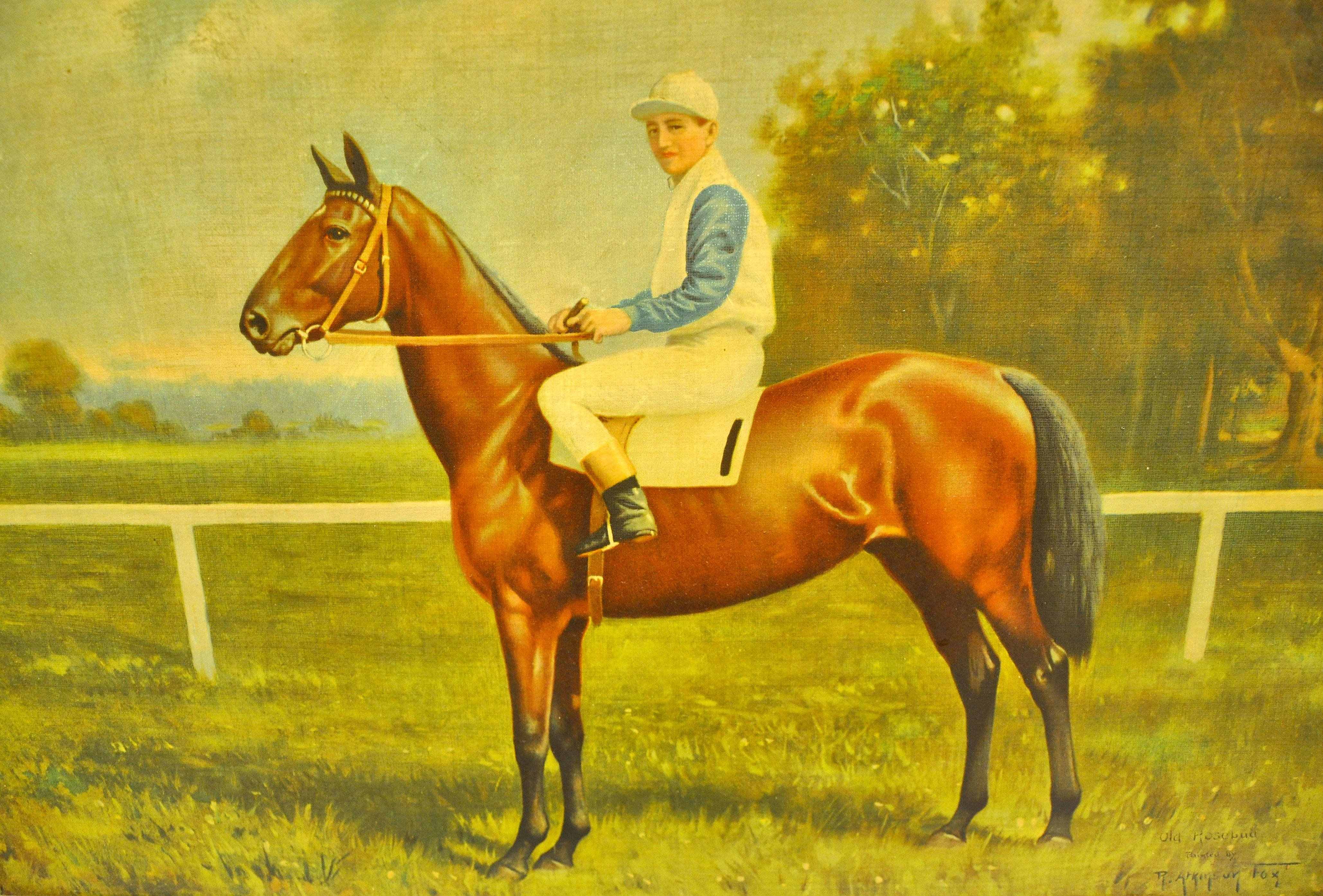 Portrait of Old Rosebud (J. McCabe up) by R. Atkinson Fox (Museum Collection)