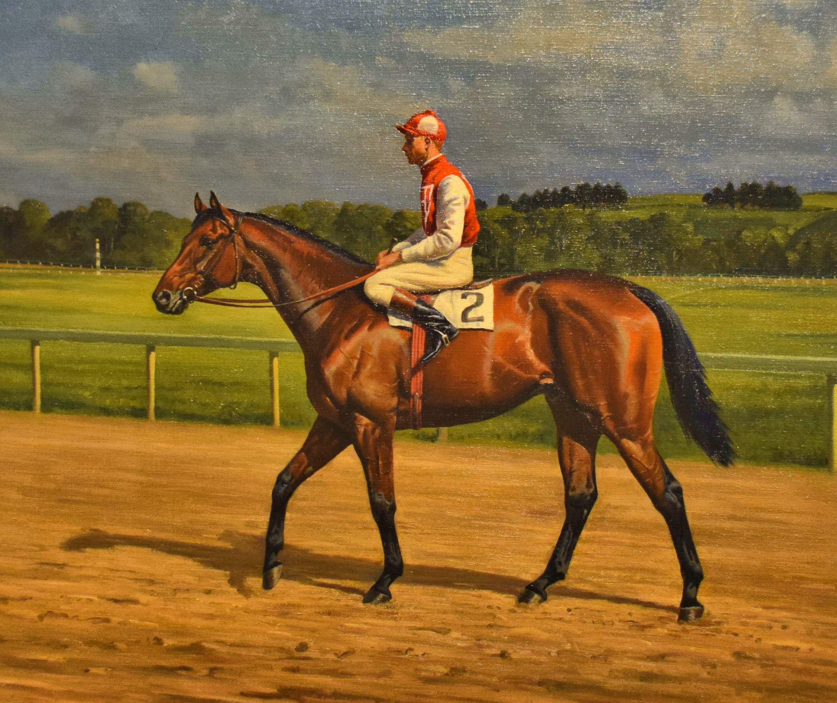 Painting of Seabiscuit by Franklin Brooke Voss, 1937 (Museum Collection)
