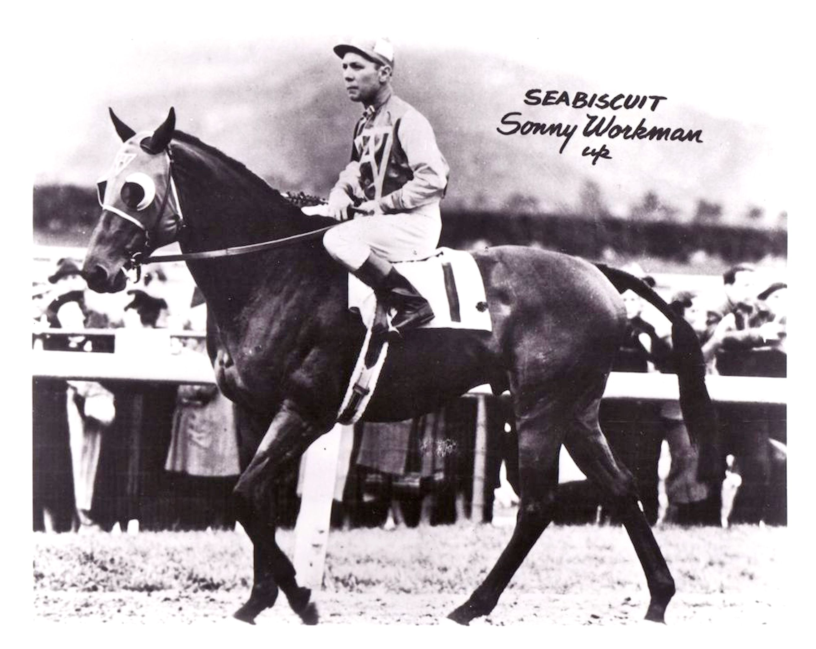 Seabiscuit with Raymond Workman up (C. C. Cook)