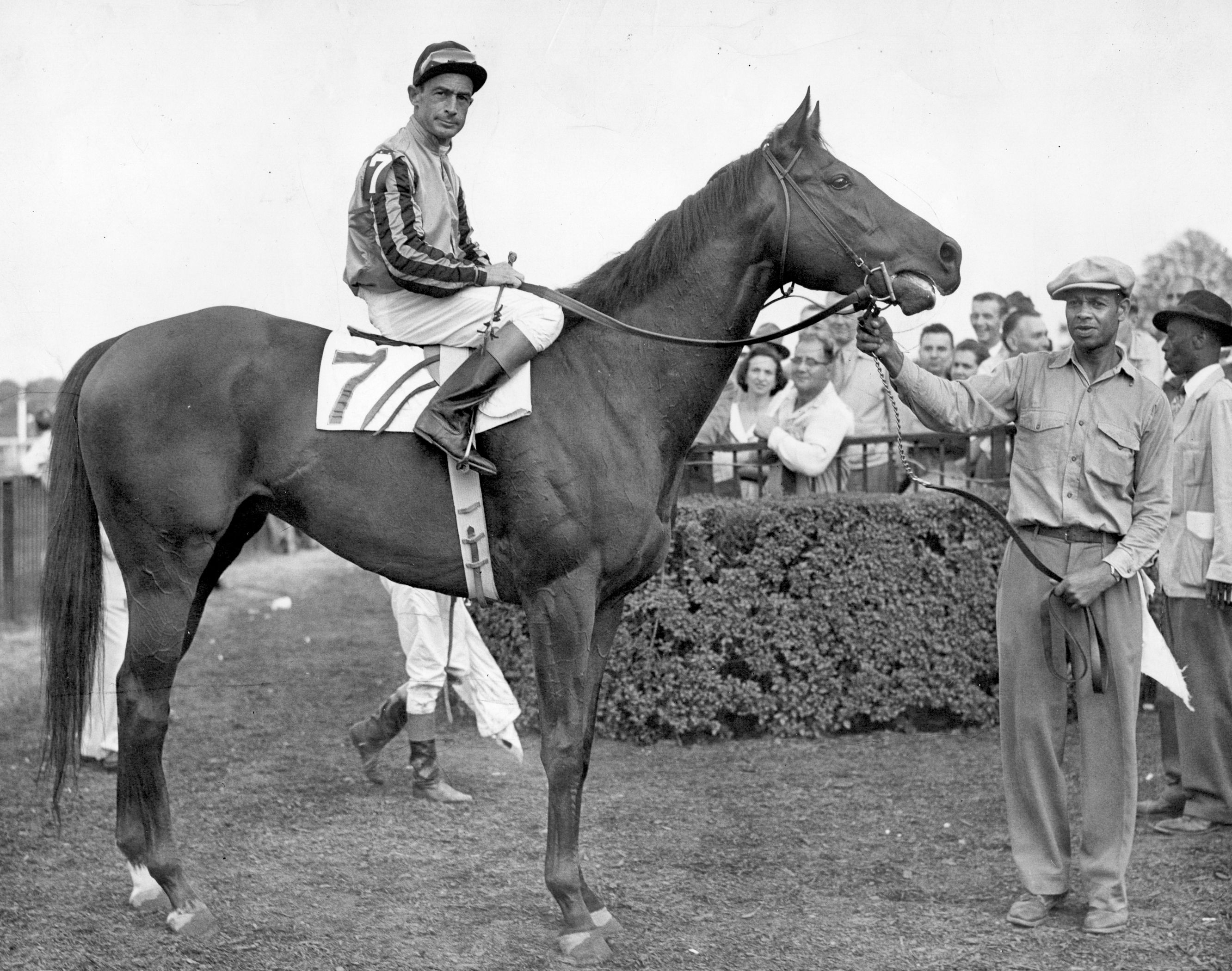 Tom Fool with Ted Atkinson up (NYRA)
