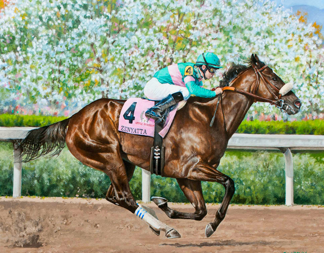 Painting of Zenyatta by Robert Clark