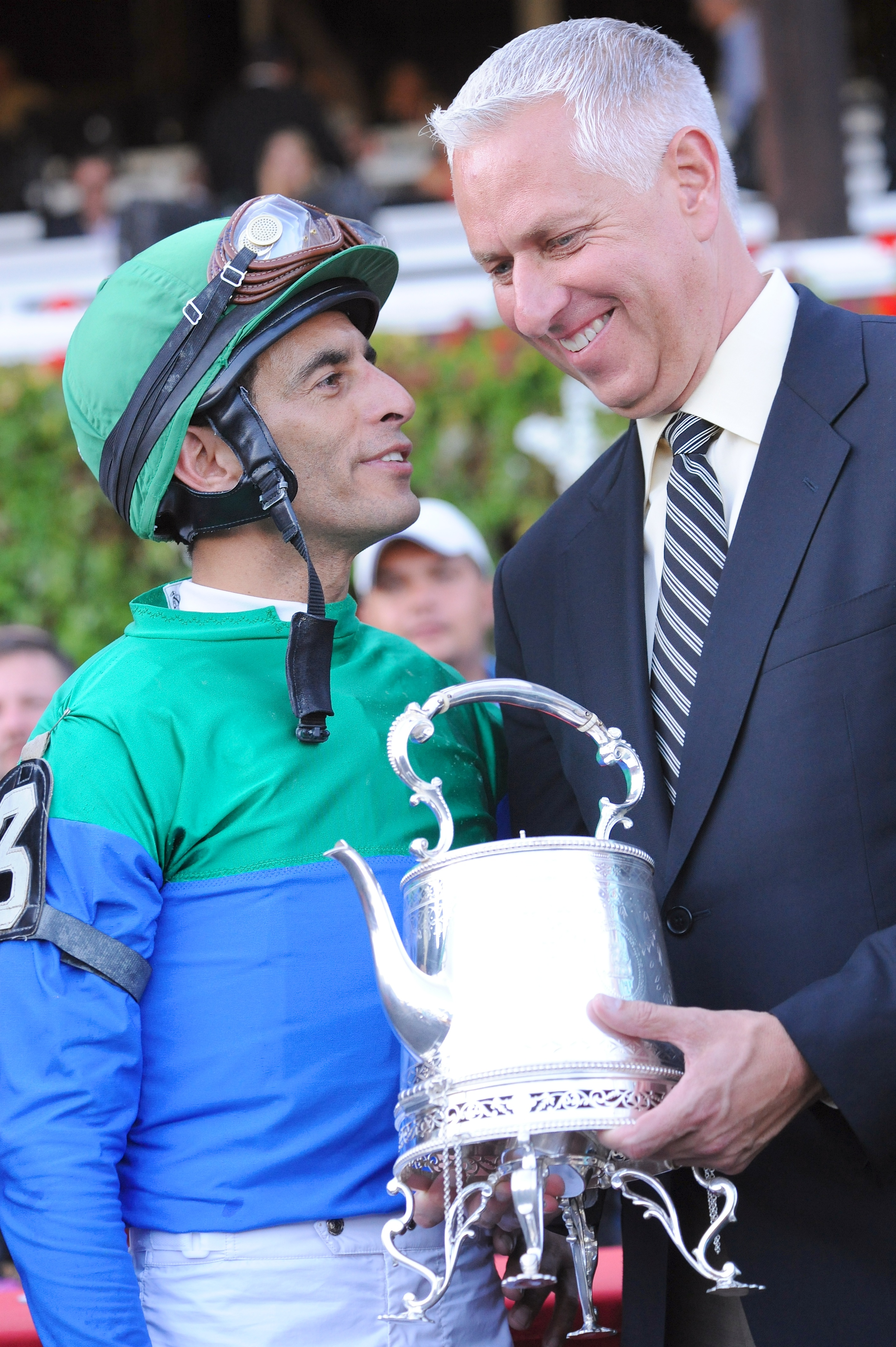 John Velazquez and Todd Pletcher (Bob Mayberger)