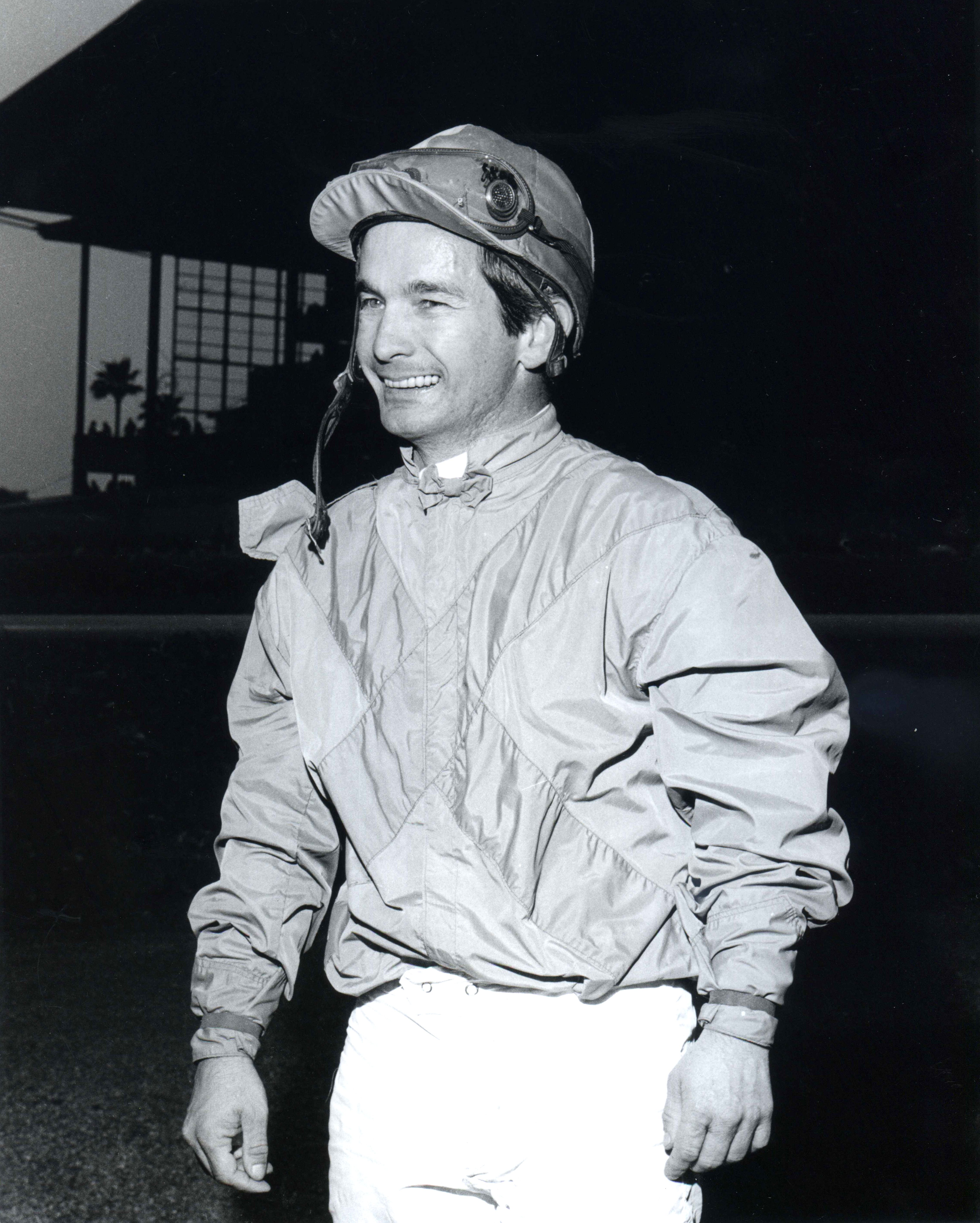 Bill Shoemaker after winning on Princess Endeavor on Febuary 11, 1969 at Santa Anita (Bill Mochon/Museum Collection)