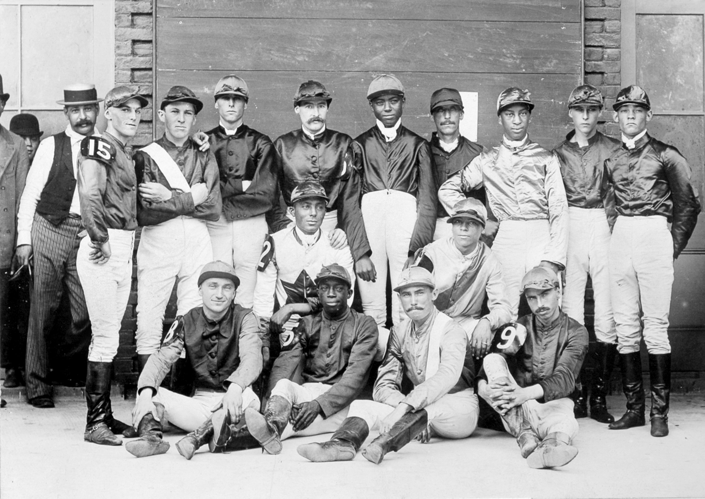 Anthony Hamilton, front row, second from left (Keeneland Library Hemment Collection)